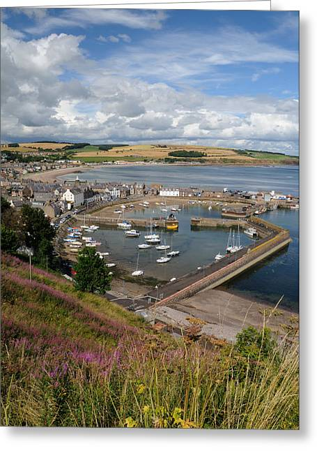 Stonhaven Harbour  Scotland Greeting Card by Jeremy Voisey