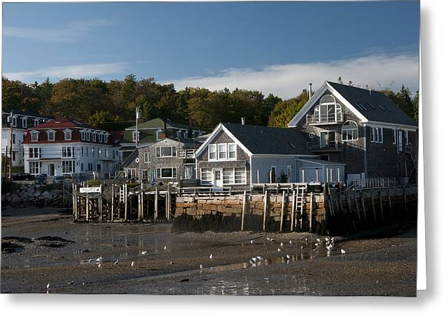 Greeting Card featuring the photograph Stonington Harbor by Paul Miller