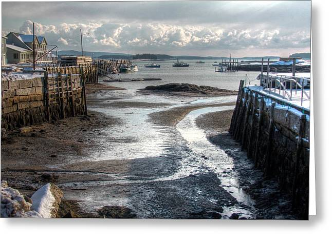 Stonington Low Tide Greeting Card