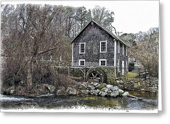 Stony Brook Gristmill Greeting Card by Constantine Gregory