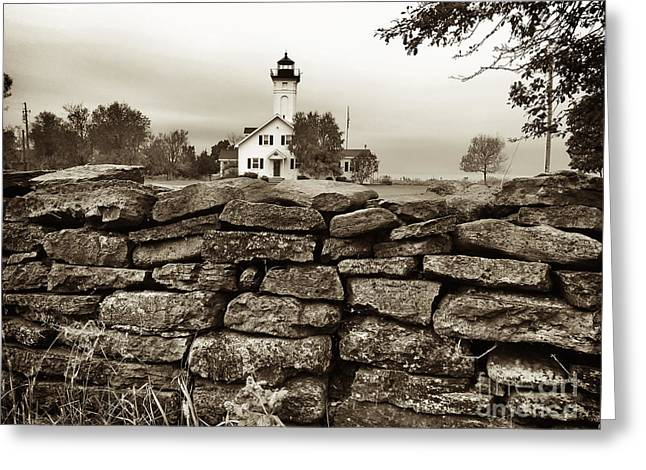 Stony Point Lighthouse Greeting Card by Tony Cooper
