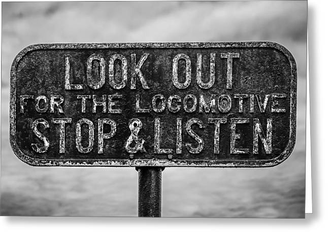 Stop And Listen Greeting Card by Steve Stanger