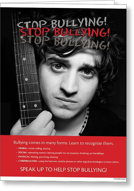 Greeting Card featuring the photograph Stop Bullying by Betty Denise