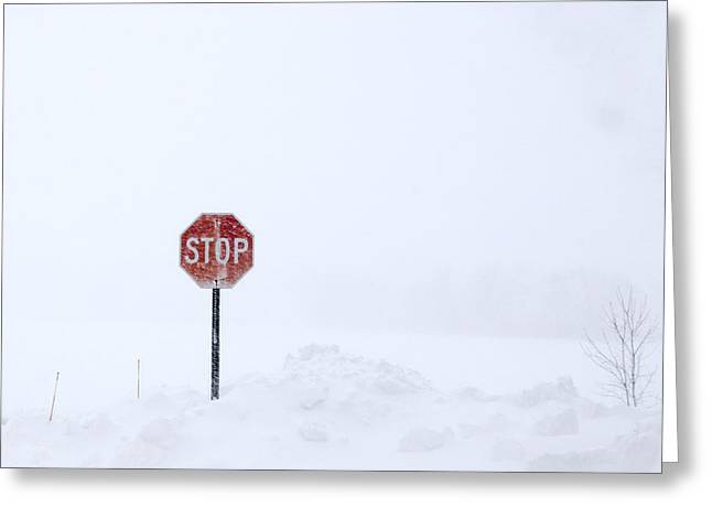 Stop For Snowstorm Greeting Card