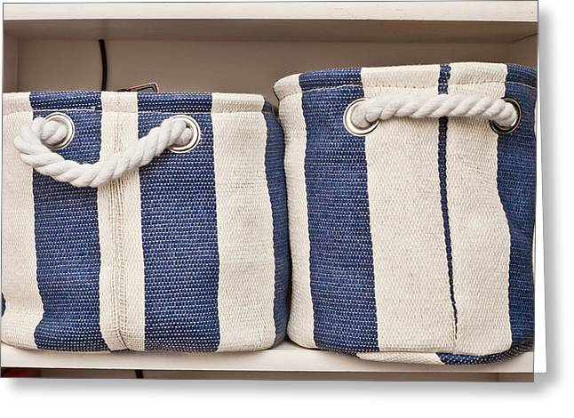Storage Baskets Greeting Card by Tom Gowanlock