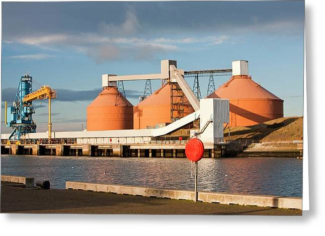 Storage Silos Greeting Card by Ashley Cooper