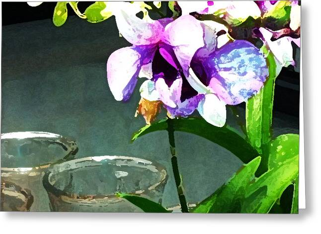 Greeting Card featuring the photograph Store Bought Flowers by Phil Mancuso