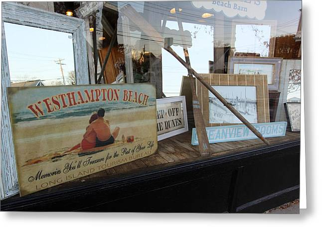 Store Front Westhampton New York Greeting Card