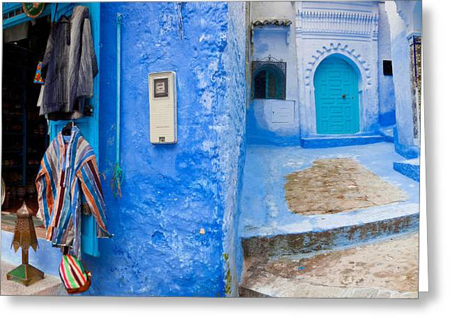 Store In A Street, Chefchaouen, Morocco Greeting Card