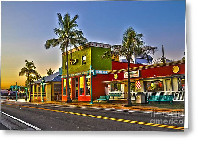 Store On Fort Myers Beach Florida Greeting Card by Timothy Lowry
