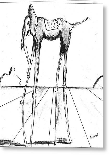 Stork Legs Greeting Card by Dan Twyman