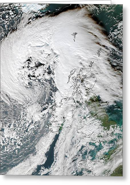 Storm Abigail Greeting Card by University Of Dundee
