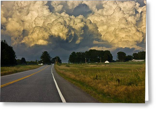Storm Ahead Greeting Card by Benjamin Williamson