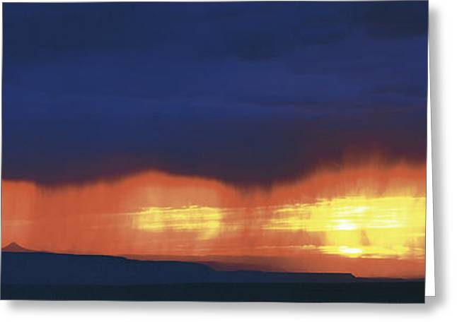 Storm Along The High Road To Taos Santa Greeting Card by Panoramic Images
