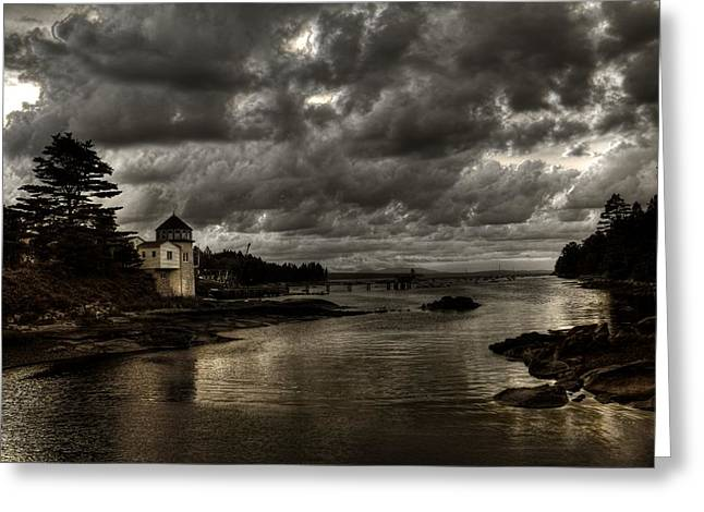 Storm Approaching Greeting Card by Greg DeBeck