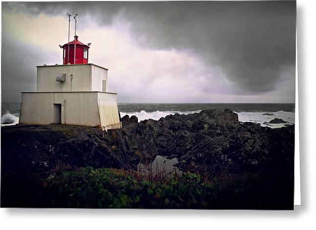Storm Approaching Greeting Card by Micki Findlay