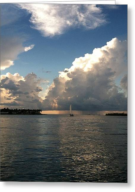 Storm Approaching Greeting Card by Sharin Gabl