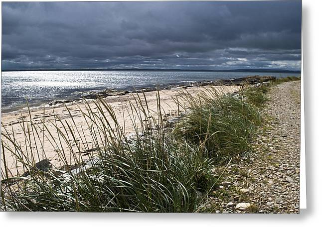 Greeting Card featuring the photograph Storm Arising Dornoch Beach Scotland by Sally Ross