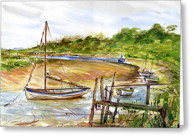 Storm At Bay Greeting Card by William Rowsell