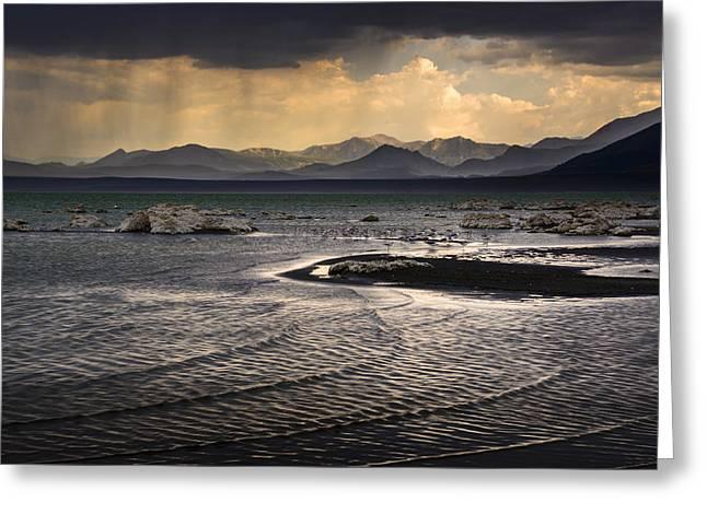 Storm At Mono Lake Greeting Card by Joe Doherty