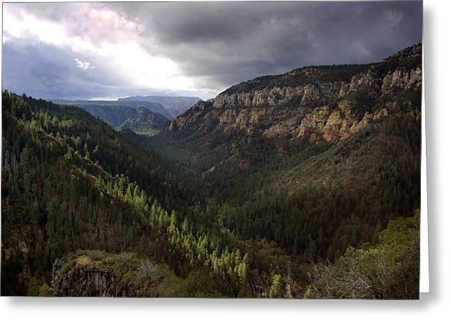 Storm At Oak Creek Canyon Greeting Card