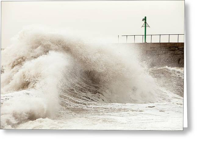Storm At Workington Greeting Card by Ashley Cooper