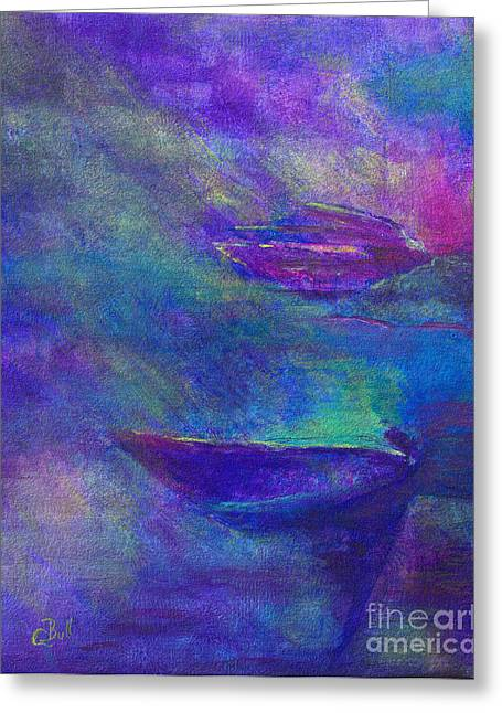 Storm Boats Greeting Card by Claire Bull