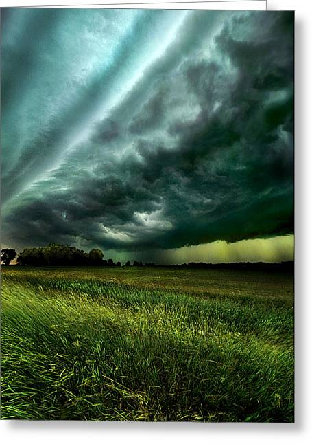 Storm Bound Greeting Card by Phil Koch