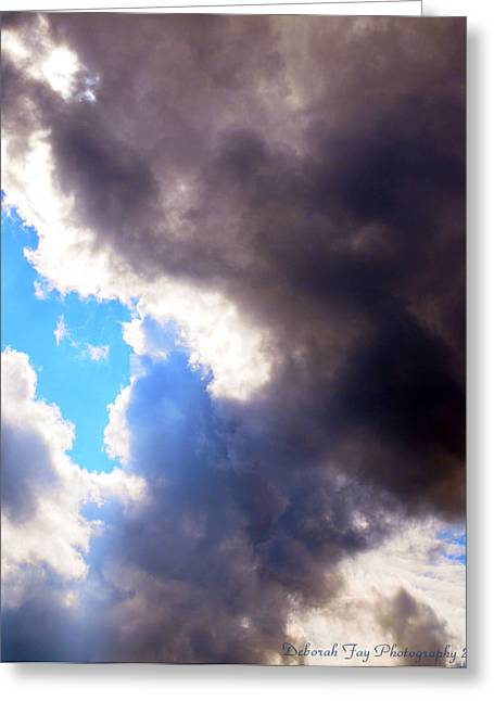 Storm Brewing Greeting Card by Deborah Fay