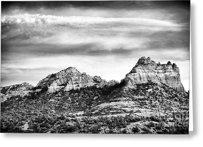 Storm Brewing In Sedona Greeting Card by John Rizzuto