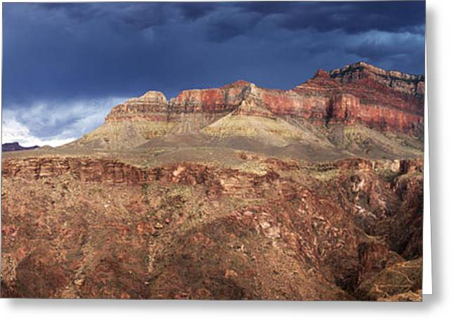 Storm Brewing In The Canyon Greeting Card