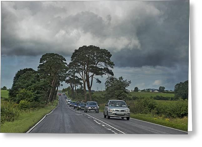 Irish Country Storm Greeting Card by Betsy Knapp