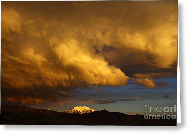 Storm Brewing Greeting Card by James Brunker