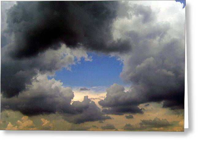 Greeting Card featuring the photograph Storm Brewing by Tamyra Crossley