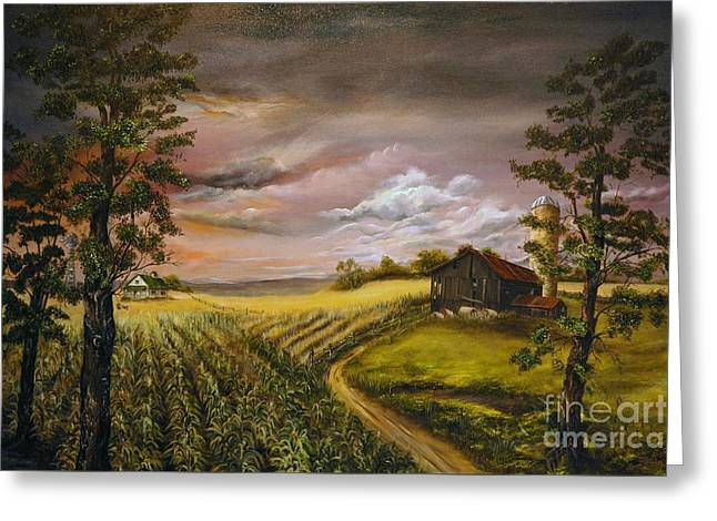 Storm  Clouds Greeting Card by Anna-Maria Dickinson