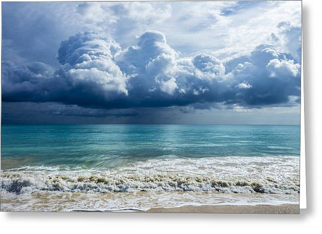 Storm Clouds At Waimanalo Greeting Card