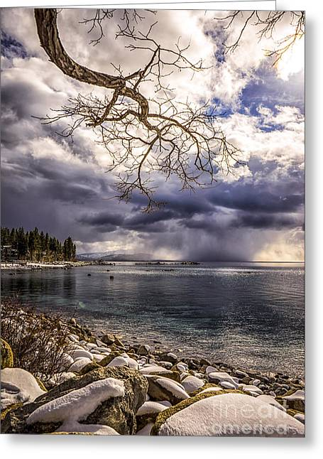 Storm Clouds From Cave Rock Greeting Card