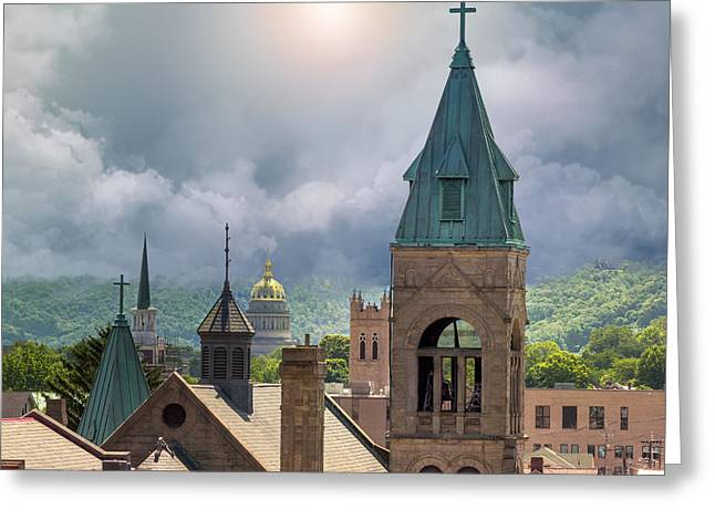 Storm Clouds In Charleston Wv Greeting Card by Mary Almond