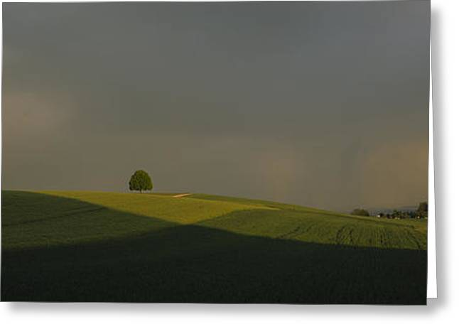 Storm Clouds Over A Field, Canton Of Greeting Card by Panoramic Images