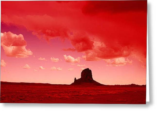 Storm Clouds Over A Landscape, Utah, Usa Greeting Card by Panoramic Images