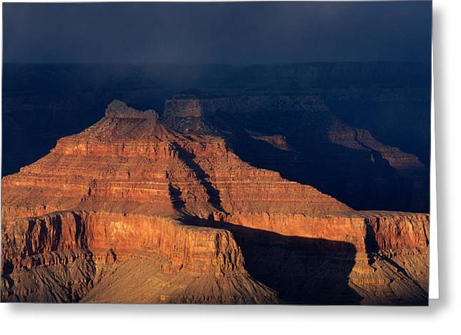 Stormy Weather Greeting Cards - Storm Clouds Over Grand Canyon Az Greeting Card by Panoramic Images