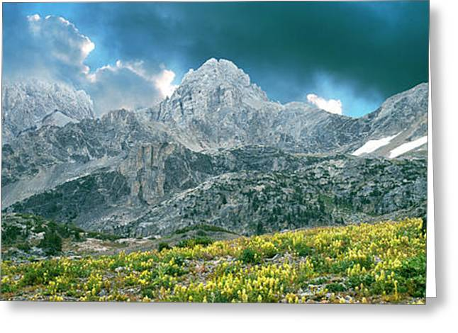 Storm Clouds Over Mountain, Teton Greeting Card