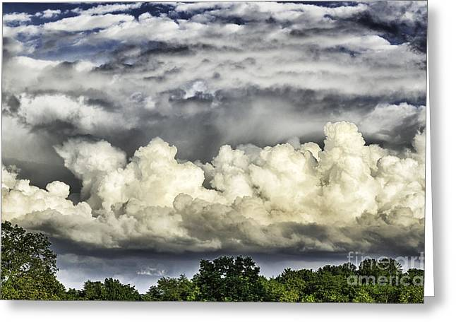 Storm Clouds Over Mountain Greeting Card by Thomas R Fletcher