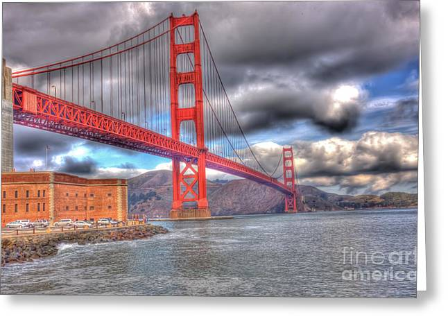 Storm Clouds Over The Golden Gate Bridge 2 Greeting Card