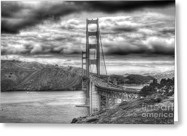 Storm Clouds Over The Golden Gate Bridge Greeting Card