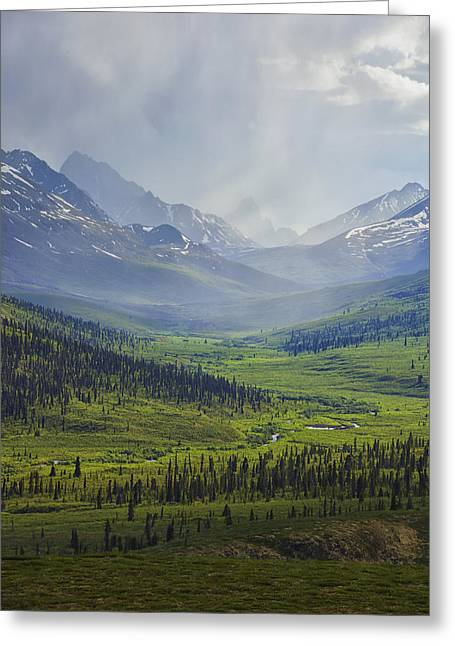 Storm Clouds Over The Klondike Valley Greeting Card