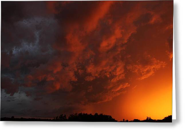 Storm Clouds Over Yorkton II Greeting Card
