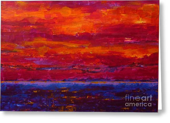 Storm Clouds Sunset Greeting Card