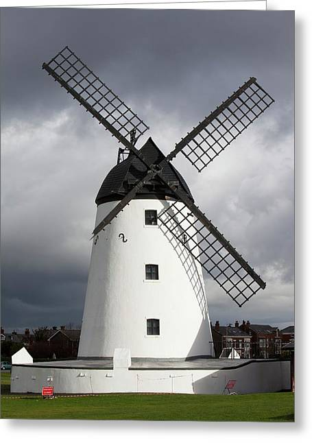 Storm Damage To Windmill Greeting Card by Ashley Cooper