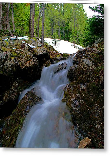 Greeting Card featuring the photograph Storm Falls  by Kevin Bone